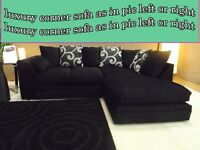 BANK HOLIDAY WOW SALE OFFER ZINA luxury corner sofa as in pic left or right chase fast delivery