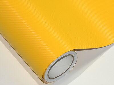 3D Gelb Carbonfolie Auto Folie 20 meter x 152 cm  Blasenfrei Luftkanäle D41