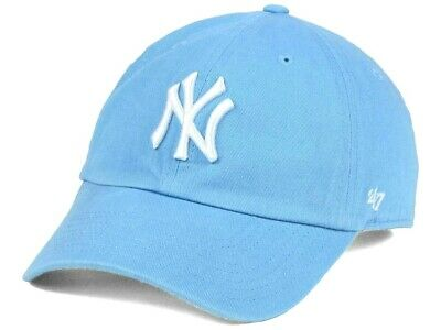ff4a70f951e  47 New York Yankees MLB Women s Powder Columbia Blue Baseball CLEAN UP Cap  Hat