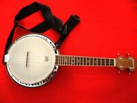 Ashbury AB-34 Banjolele, Resonator, Walnut - Total Package original cost £375+