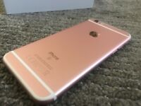 Apple iPhone 6s 16GB Rose Gold EE Boxed Screen Protector Immaculate Condition