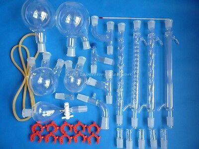 Organic Chemistry Lab Glassware Kit Glass Distilation Distilling Kit 2440 Joint