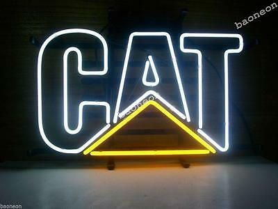 Bigger CAT CATERPILLAR BEER LIGHT Real Glass BEER STORE NEON SIGN Fast Free Ship