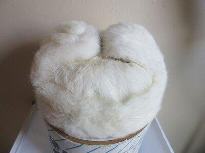 Vintage Liu Li He Fur hat. with box. White