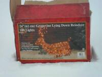 Reindeer light outdoor sculpture