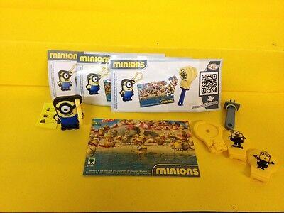 Minions  3x Zubehör Puzzle Anhänger Clapper   FF353 FF298 FF334H  mit   BPZ