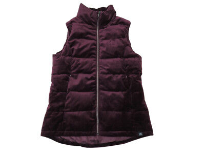 ZeroXposur Ladies Size Small Super-Soft Velour Full-Zip Puffy Vest, Mahogany