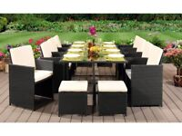 **FREE & FAST UK DELIVERY** 12 Seater Rattan Garden Furniture Cube Set in Various Colours