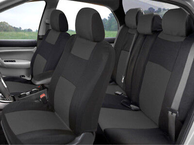 PolyCloth Economy Car Seat Covers for Auto SUV Truck 9pcs Front & Rear 6 Colors