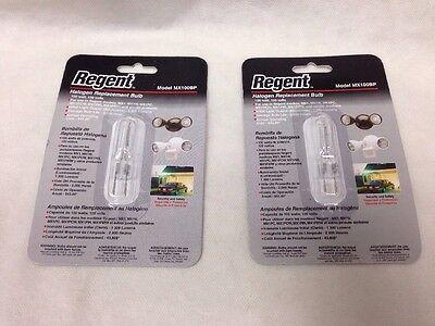 Regent MX100BP MX1 Halogen Bulb 100 Watt 120 Volt GY6.35 S3419 100T4/CL 2-pcs