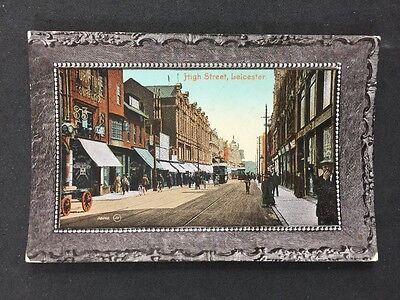 Vintage RP Postcard: Leics: #T3: High Street, Leicester