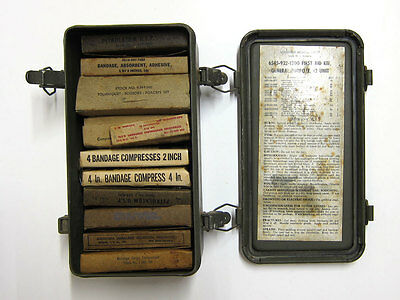 Us Army Military Motor Vehicle General Purpose First Aid Kit   6545 922 1200