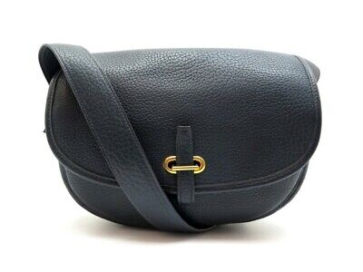 Neuf vintage sac a main hermes balle de golf bandouliere en cuir bleu navy 6850€