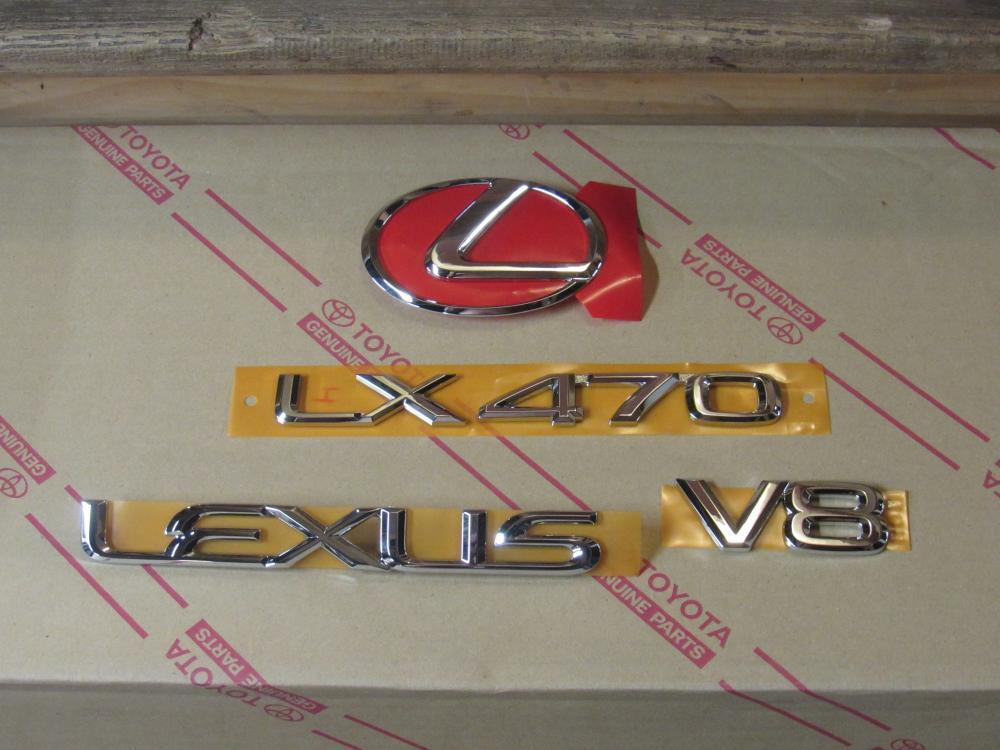 1998-2001 OEM NEW LEXUS LX470 CHROME REAR EMBLEM KIT TRUNK TAIL 98 99 00 01