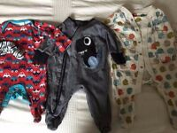 Large bundle of 0-3 months boy's baby clothes