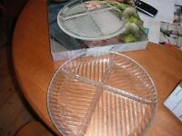 tweed platter with dividers