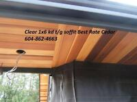 Cedar decking / siding / t/g soffit / fienline mill direct new!!