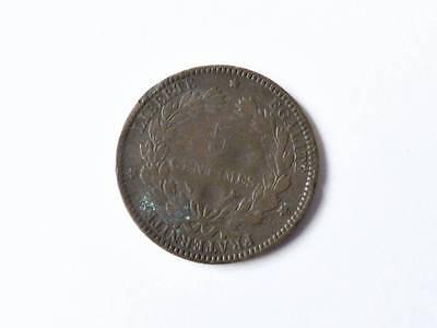 alte Münze 5 Centimes Frankreich  1897  A81