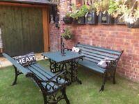 Cast Iron Garden Furniture £175 ono