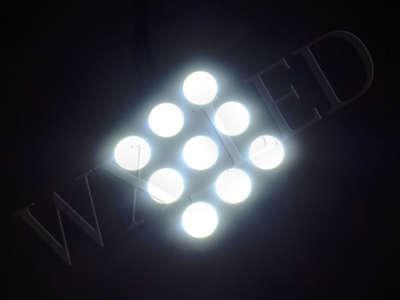 White 9 smd 5050 LED Map Dome Panel Light 211-2 578 194 Ba9 194 DE3175 DE3022 (