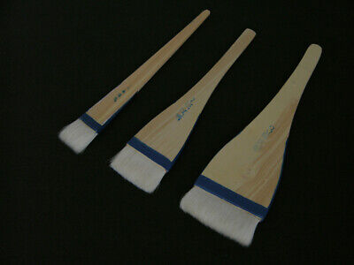 Goat Hair Hake Flat Brush set of 3 for sale  Shipping to India