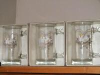 4 Western Glass Steins - new price- $25.00 takes all