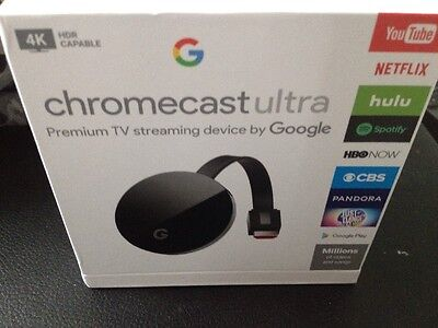 Google Chromecast Ultra 4K Media Streamer - Black