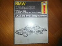 BMW 528i & 530i  2.8L & 3.0L 1975-1980 Shop Manual