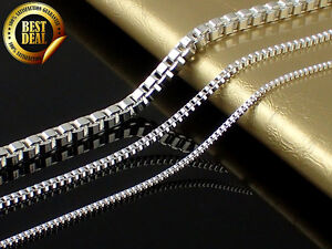 925-Sterling-Silver-Stamp-Venetians-Chain-Necklace-From-16-To-30-Inch