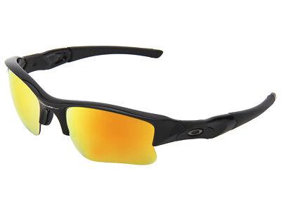 Oakley Flak Jacket XLJ Sunglasses 03-899 Polished Black/Fire (Flak Jacket Xlj Sunglasses)