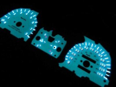 88-91 HONDA CIVIC SI DX LX RT SE WAGON 5 Speed White Face Glow Gauges Gauge Kit