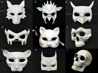Blank DIY Unpaint Masquerade Ball Mask Polyresin Base Halloween Costume Party