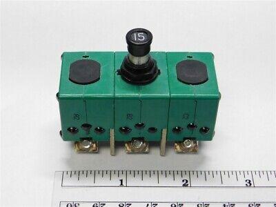 Sensata 9tc2-15 Ms 14153-15 3 Phase 15a Aircraft Circuit Breaker
