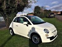 FIAT 500 1.2 Lounge, £30 Road tax, Excellent all round (white) 2009
