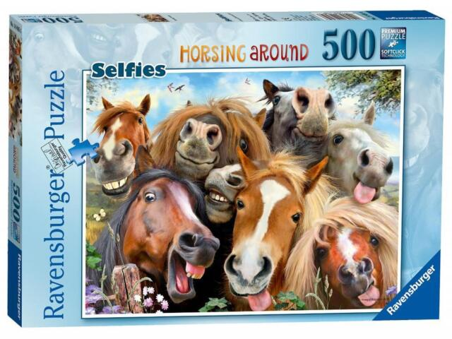 Ravensburger 14695 Selfies No 1 Horsing Around Jigsaw Puzzle 500 Pieces - New