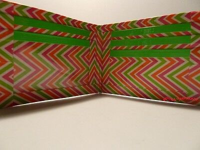 Duct Tape Wallet MULTI COLOR ZIG ZAG  Handmade