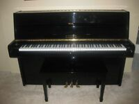 SAMICK Black Lacquered Upright Piano