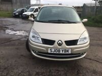 2008 RENAULT GRAND SCENIC (7 seater) 1.6 PETROL - COMES WITH FULL YEAR MOT + 3 MONTHS WARRANTY