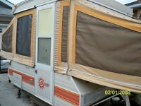 TENT TRAILER FOR RENT SLEEPS 6 CAN BE TOWED BY MOST CARS !!!