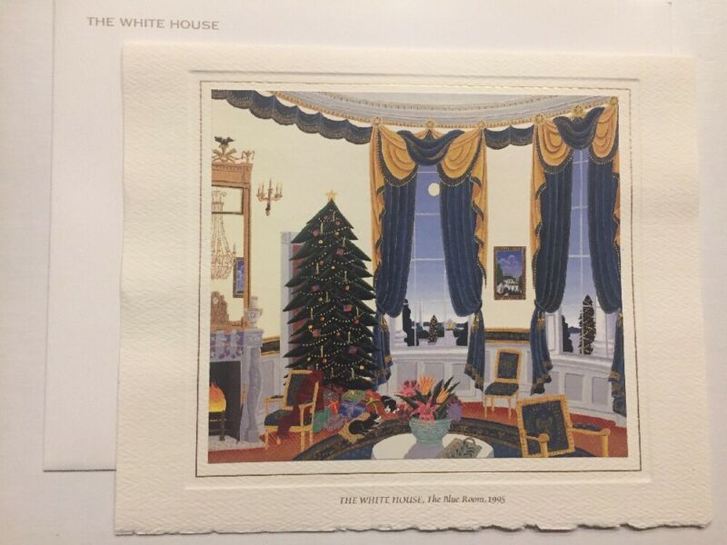 Official 1995 President Bill Clinton White House Christmas Card Envelope Hillary