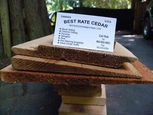 Cedar 1x6 Clear#1 a and better 3/4/5  $1.15/ft