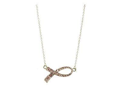 Pink Ribbon Crystal Stone Necklace ~ Gift Idea! - Pink Ribbon Ideas