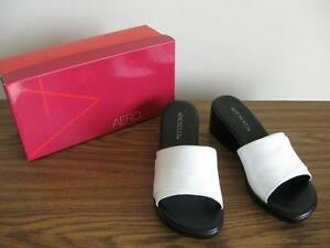 Aerosoles brand new white slides, size 8M