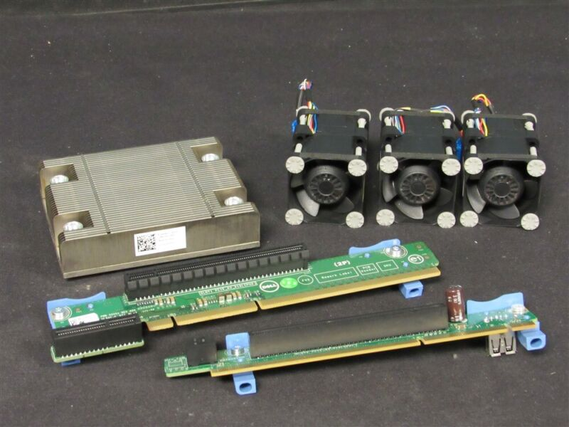 DELL POWEREDGE SERVER R420 R520 CPU PROCESSORS UPGRADE KIT RISERS FANS HEATSINK