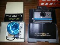 Mint Original Polaroid 210 Land Camera w Flashgun #268,Warranty