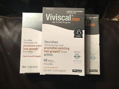 Lot Of 3 Viviscal Extra Strength for Men Tablets, Free Fast Shipping SALE