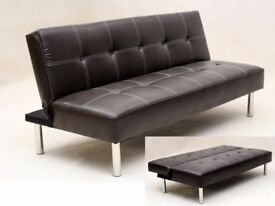 50% off Brand New Natalia Faux Leather Sofa Bed Same day Delivery