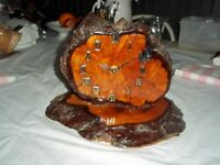 Burl table clock