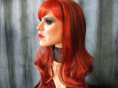 Latexmaske KIRA +WIMPERN +PERÜCKE - Frauengesicht Frauenmaske Trans Crossdresser