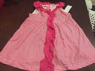 New Girls Sleeveless Summer Shirt Top Pink White Stripes Size 4T